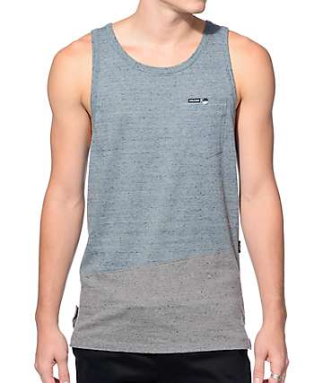 Volcom Fazer Blue and Grey Pocket Tank Top