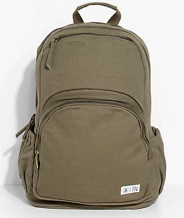 Volcom Fieldtrip Olive Canvas 24L Backpack