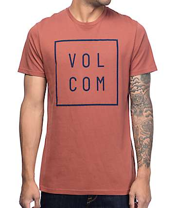 Volcom Flag Washed Red T-Shirt