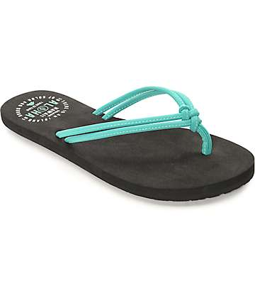 Volcom Forever & Ever Hawaii Mint & Black Sandals