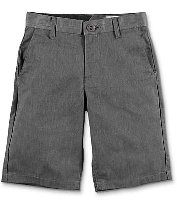 Volcom Frickin Charcoal Boys Chino Shorts