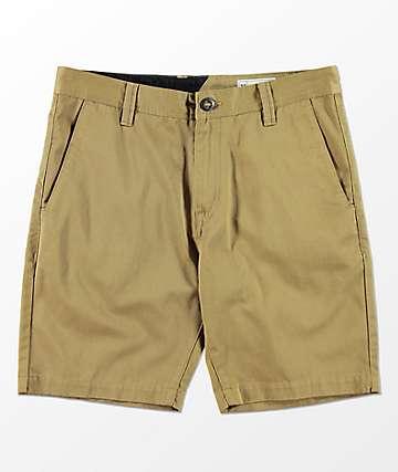Volcom Frickin Drifter Dark Khaki Chino Shorts