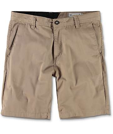 Volcom Frickin Drifter shorts chinos en color caqui