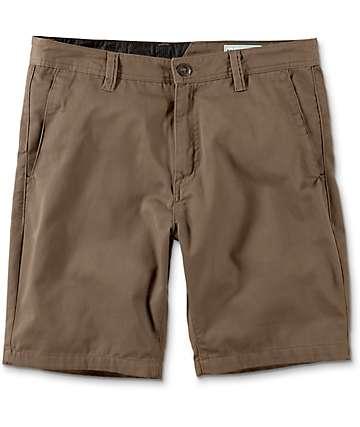 Volcom Frickin Drifter shorts chinos en color hongo