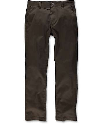 Volcom Frickin Modern Dark Brown Stretch Chino Pants