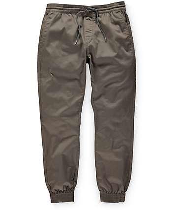 Volcom Frickin Slim Dark Khaki Jogger Pants