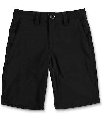 Volcom Frickin Surf N' Turf shorts híbridos en negro para niños