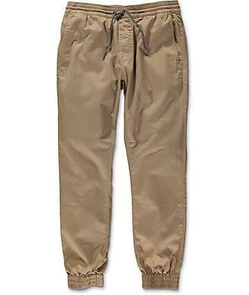 Volcom Frickin pantalones jogger ceñidos en caqui