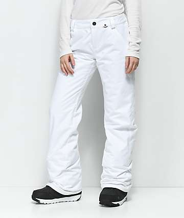Volcom Frochickie White 10K Snowboard Pants