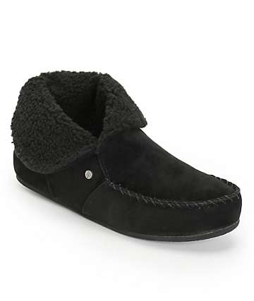 Volcom Good Spirits Black Slippers