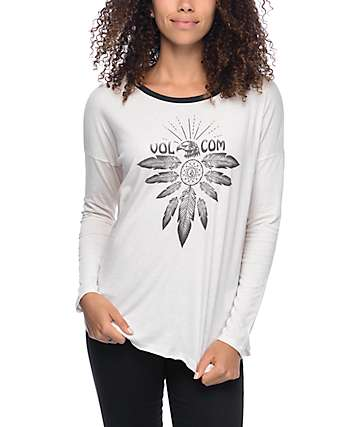Volcom Goodside Long Sleeve Cream T-Shirt