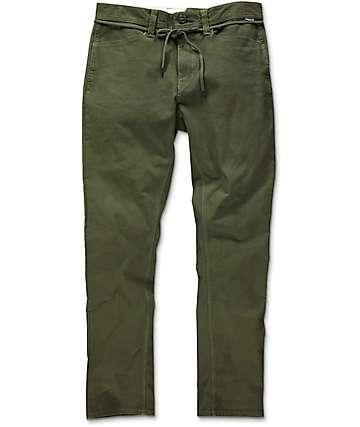 Volcom Gritter shorts chinos en verde militar