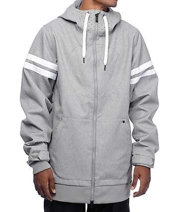 Volcom Hal chaqueta de snowboard 10K en gris jaspeado
