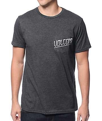 Volcom Halfway Charcoal Pocket T-Shirt