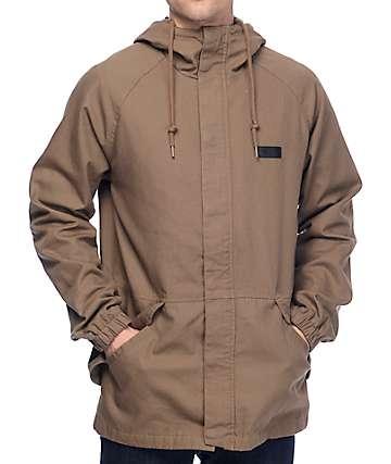 Volcom Hamilton chaqueta bomber asargada en color tabaco