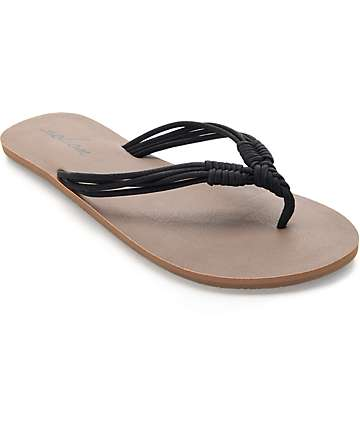 Volcom Have Fun Black Sandals