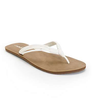 Volcom Have Fun White & Brown Sandals