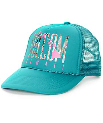 Volcom Hawaii Tropical Jade Trucker Hat