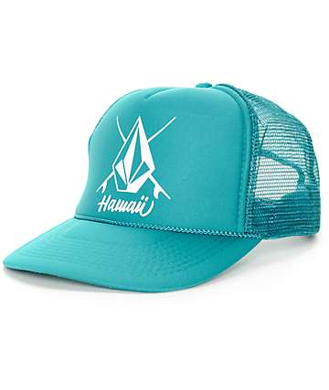 Volcom Hello Hawaii Heat Jade Trucker Hat