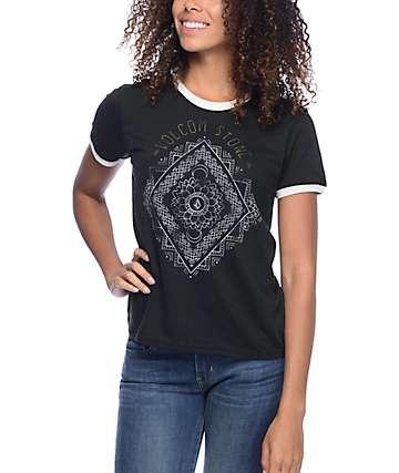 Volcom Henna Arch Black Ringer T-Shirt