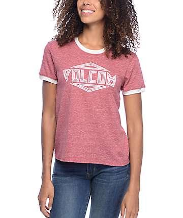 Volcom Henna Arch Red Ringer T-Shirt