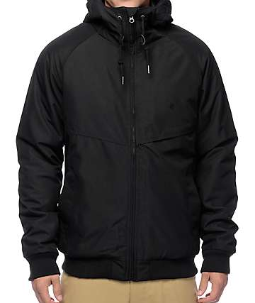 Volcom Hernan Black Insulated Bomber Jacket