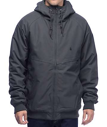 Volcom Hernan Grey Insulated Bomber Jacket