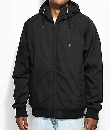 Volcom Hernan Insulated Black Bomber Jacket