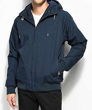 Volcom Hernan Insulated Navy Bomber Jacket