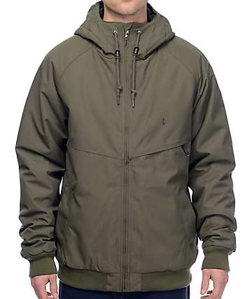 Volcom Hernan Olive Insulated Bomber Jacket