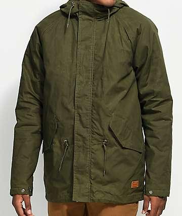 Volcom Lane Winter Olive Green Parka Jacket
