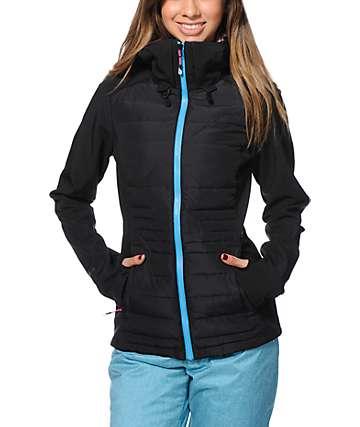 Volcom Leo Black Softshell Snowboard Jacket