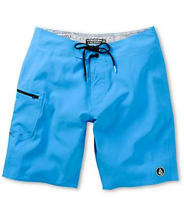 Volcom Lido Solid Blue 20 Board Shorts