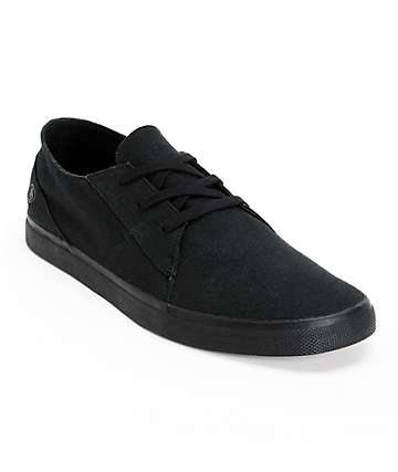 Volcom Lo Fi Black & Gum Canvas Shoes