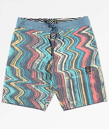 Volcom Lofi Stoney Blue & Red Board Shorts