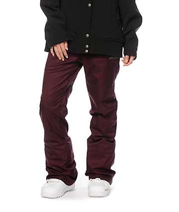 Volcom Logic Burgundy 8K Snowboard Pants