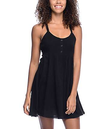 Volcom Lunar Trip Black Dress