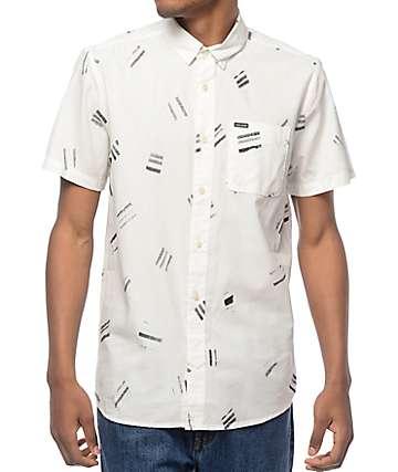 Volcom Micro Warp Printed Woven Button Up Shirt