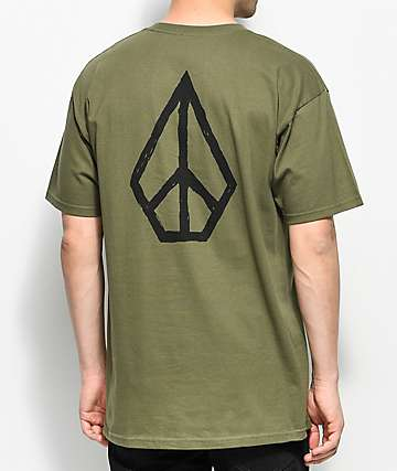 Volcom Moclov Military Green T-Shirt