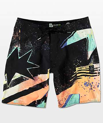 "Volcom Mod Explosion 19"" Orange & board shorts en negro"