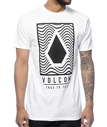 Volcom Mysteric camiseta en blanco