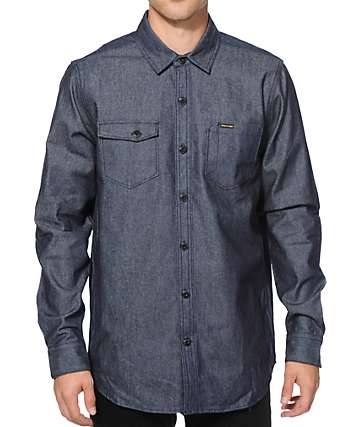 Volcom Nelson Denim Long Sleeve Button Up Shirt