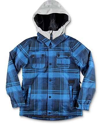 Volcom Neolithic chaqueta de snowboard para niños con relleno en azul