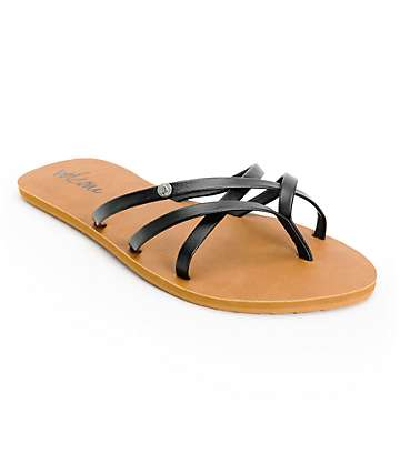 Volcom New School Black Sandals