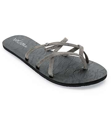 Volcom New School Dark Grey Sandals