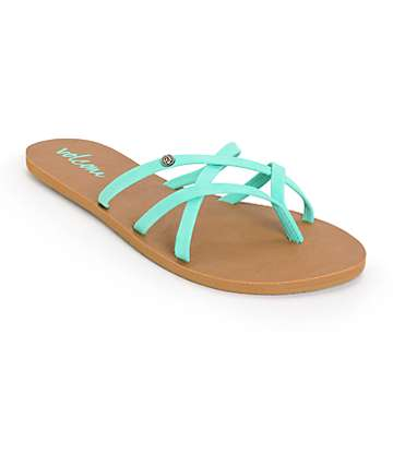 Volcom New School Mint Sandals