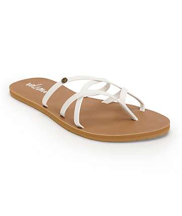Volcom New School White & Brown Sandals