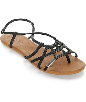 Volcom No Sweat Black Sandals