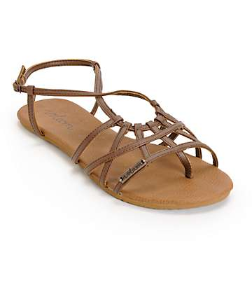 Volcom No Sweat Brown Sandals