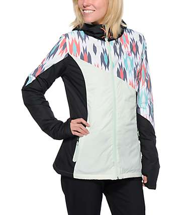 Volcom Nyala Mint & Black Insulated Jacket